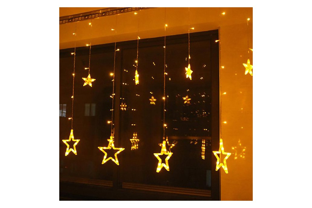 Christmas Lights Fairy Star LED Curtain String 4
