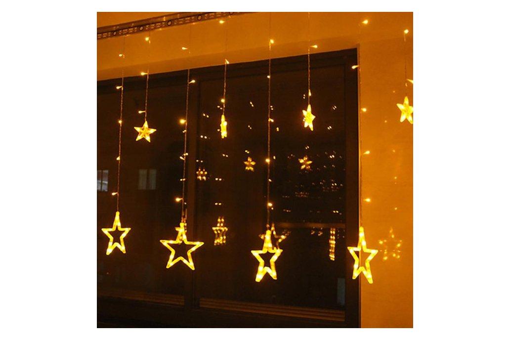 Christmas Lights Fairy Star Led Curtain String 4