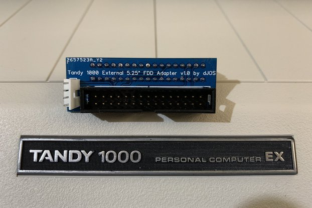 "Tandy 1000 EX/HX External 5.25"" Floppy Drv Adapter"