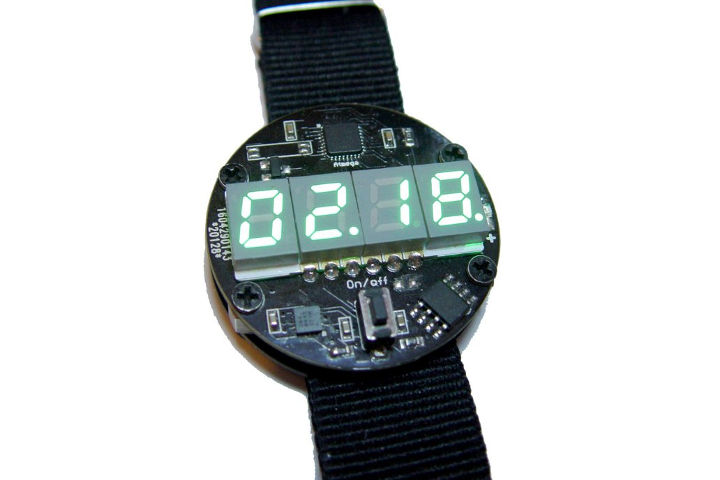 Motion activated LED watch 3
