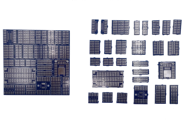 Mini protoboard pieces - 28 pcs set only $6!