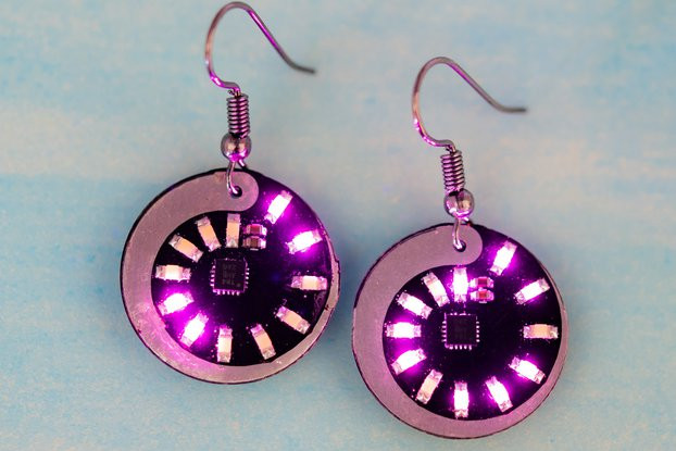 Spiral LED earrings (pair)