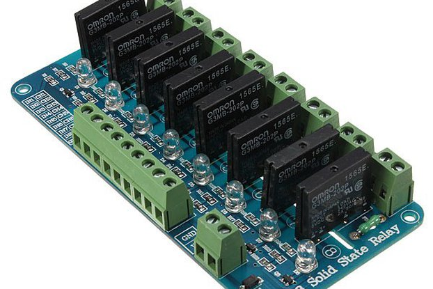 8 Channel 5V Solid State Relay Board Module OMRON SSR AVR DSP Arduino