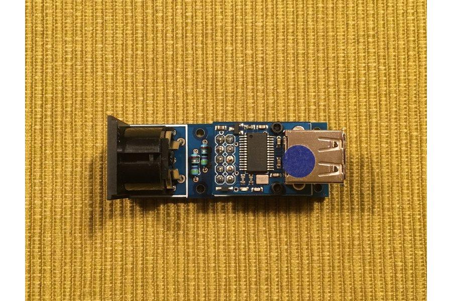 DIN MIDI OUT shield for HobbyTronics USB Host Mini