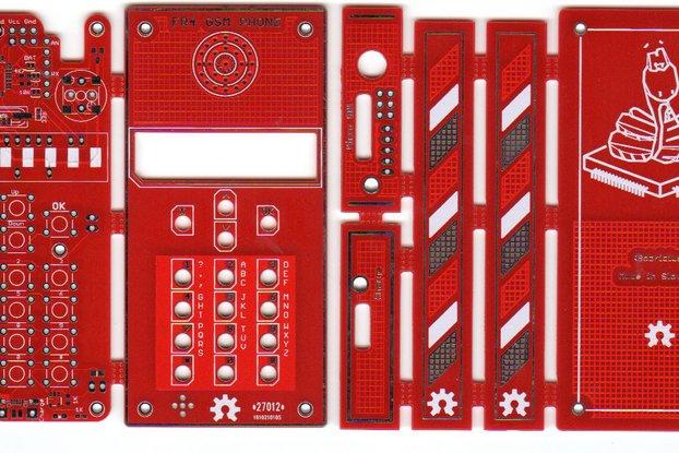 DIY GSM arduino FR4 cell phone BARE PCB