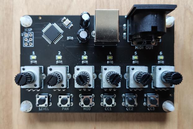Card-Sized MIDI Controller