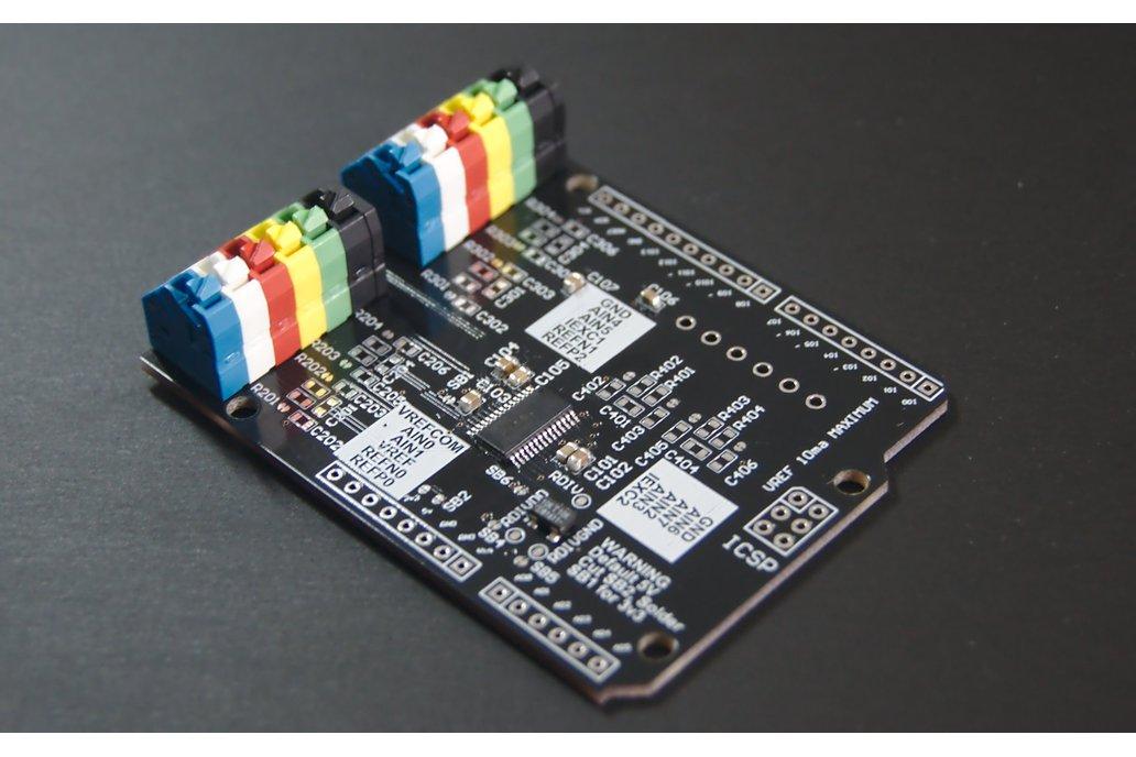 Precision ADC ADS1248 Arduino Shield (strain gage) 1