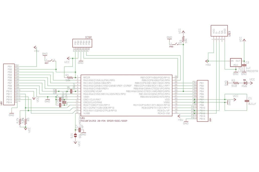 PIC18F27J53 USB Breakout 4