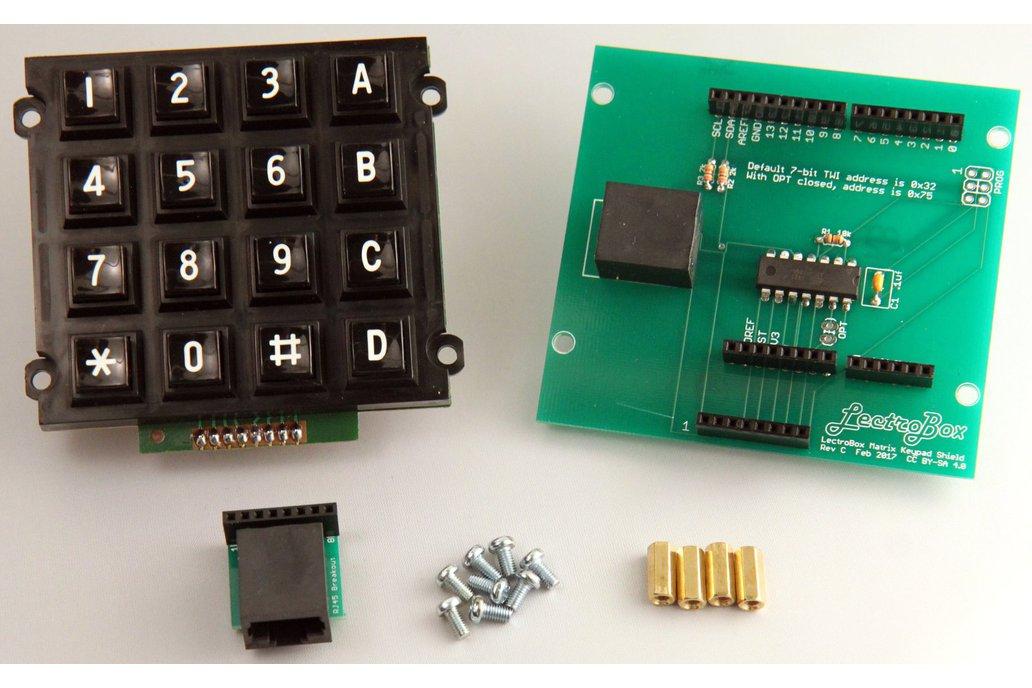 Arduino Keypad Shield with 16-Button Matrix Keypad 1