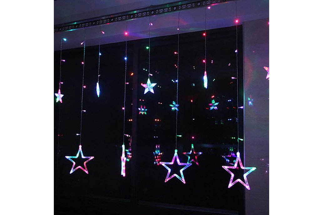 Christmas Lights Fairy Star LED Curtain String 11