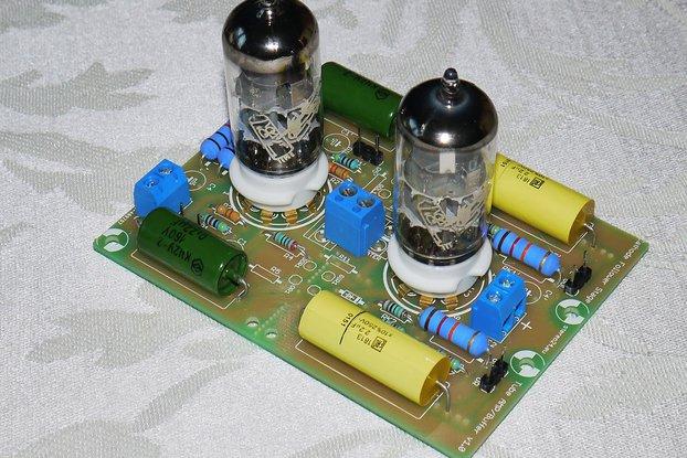 DIY Universal PCB for tube preamp CCDA stage ECC88