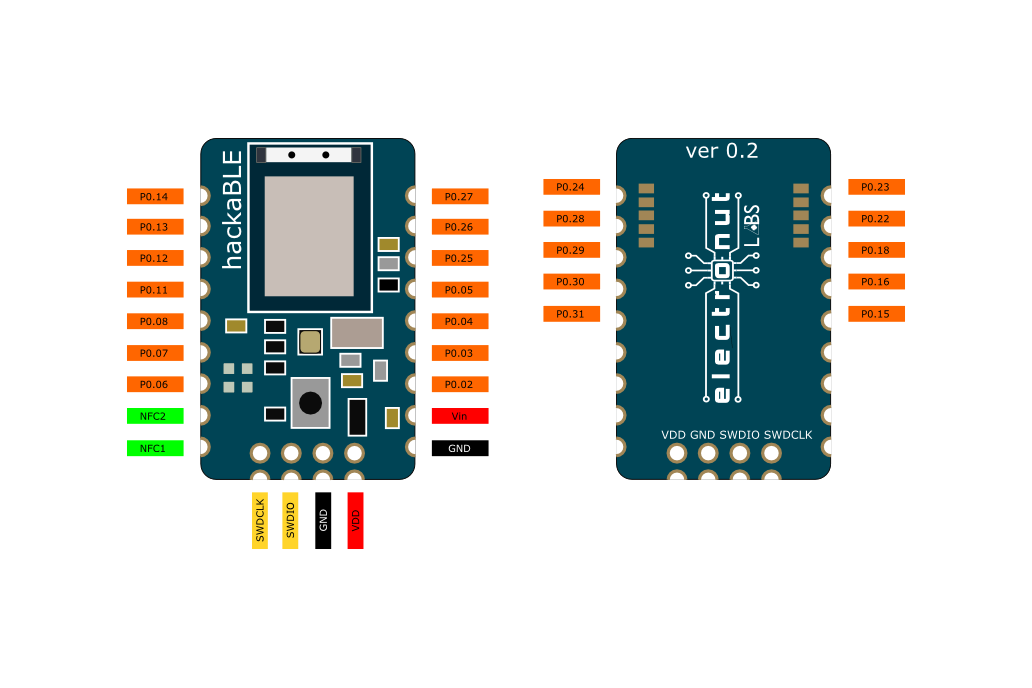 hackaBLE - tiny nRF52832 BLE development board 4