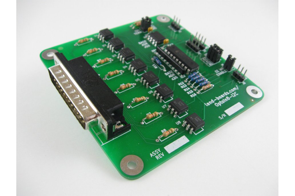 Eight optically-isolated inputs card (OptoIn8-I2C) 1