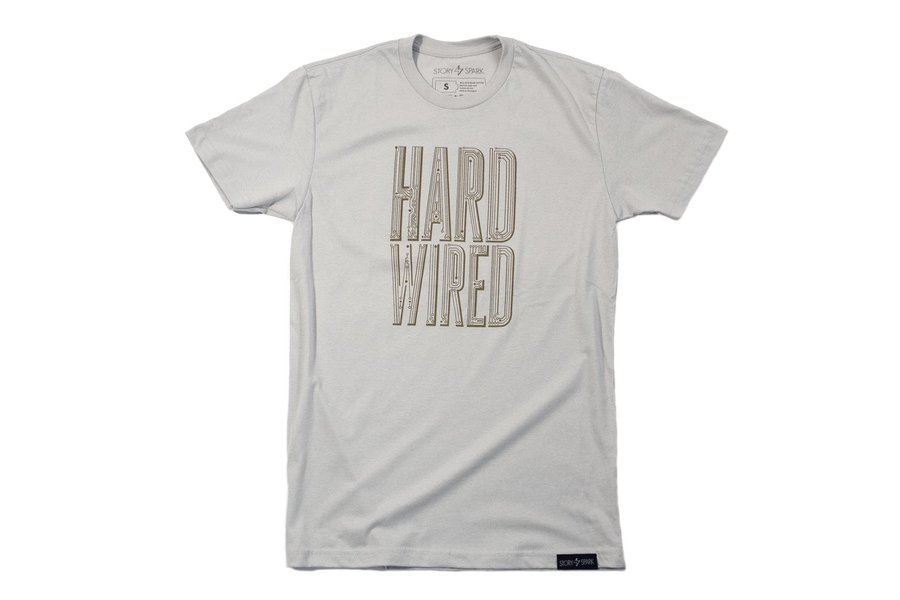 HARD WIRED - Mens Fashion Fitted Graphic T-shirt