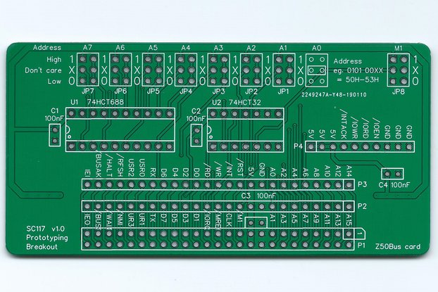 SC117 Prototyping Breakout Board for Z50Bus