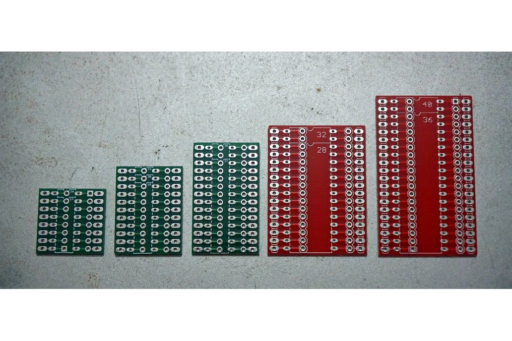 Chip Riser PCB's for component side IC pin access 1