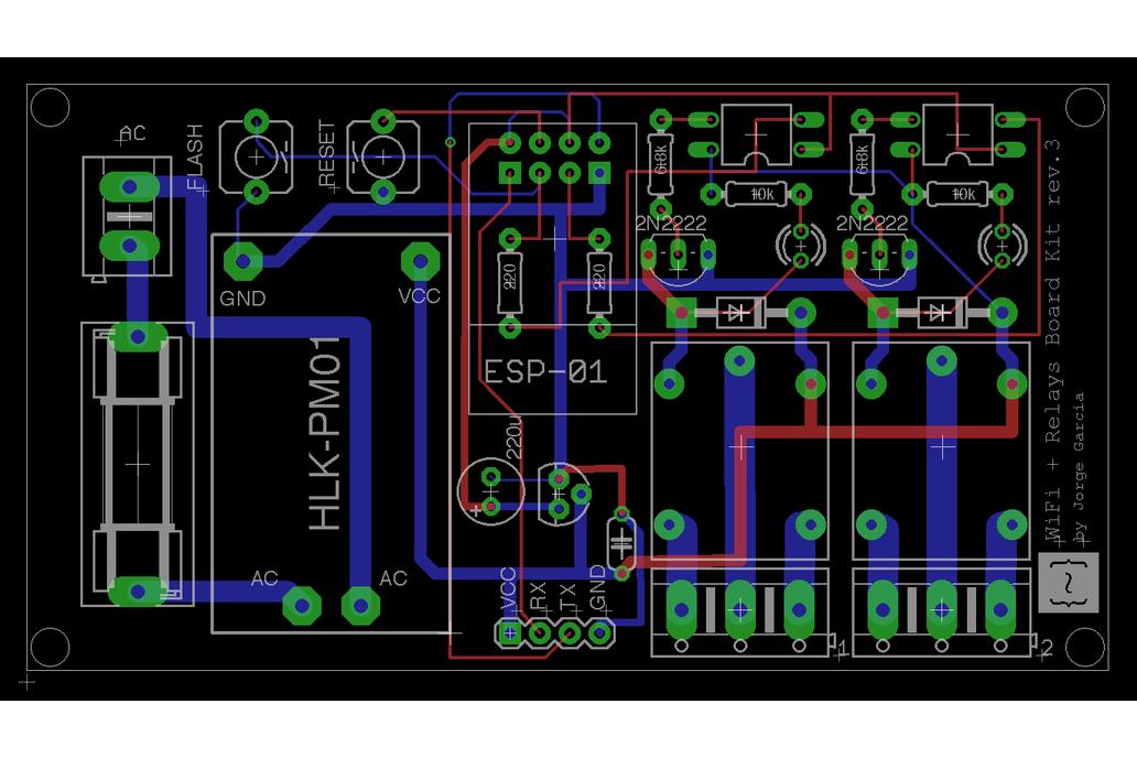 WiFi +  Relays Board Kit 6