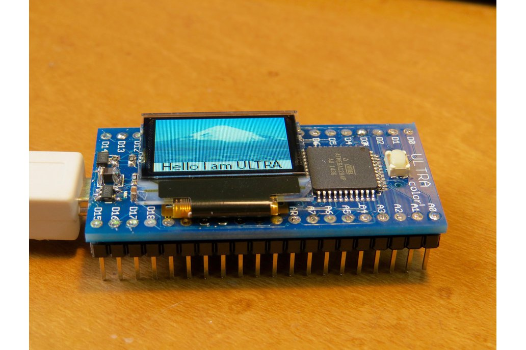 ULTRA color, a Arduino compatible FULL COLOR OLED 1