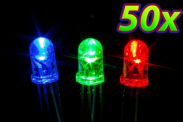 [50 pack] 5mm RGB LED