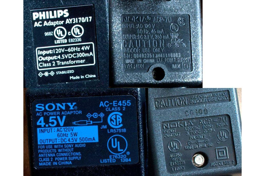 ~3.7-4.5V, 300-500mA AC-DC Transformer Adapters 2