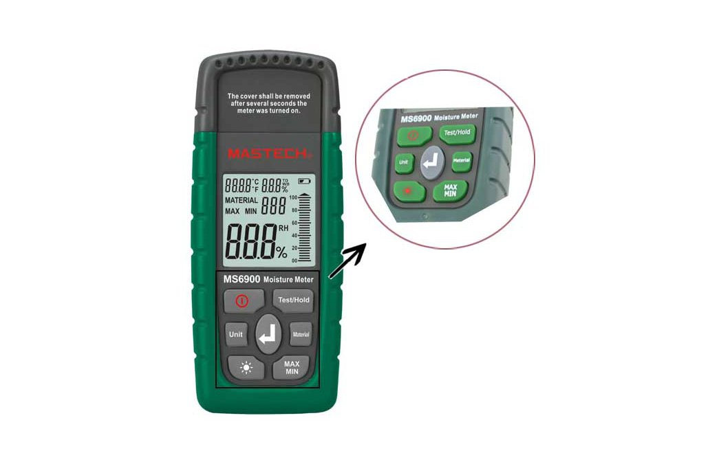 Wood Timber Moisture Humidity Temperature Detector 4