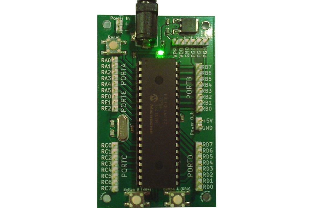 PAXStarter PIC18F46K22 DIP40 Microchip Development Board @ 64mhz 1