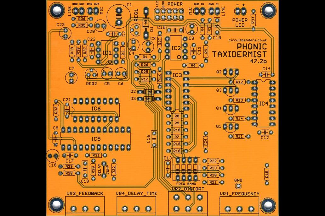 PHONIC TAXIDERMIST 47.2b: Voice Vandal clone PCB 2