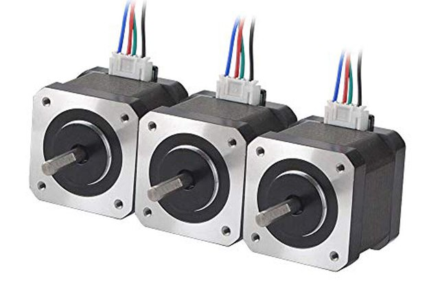 3 PCS Nema 17 Stepper Motor 45Ncm(63.74oz.in)