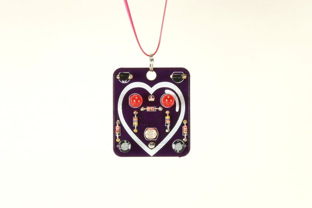 Heart: Wearable Blinky-Board Soldering Skills Kit