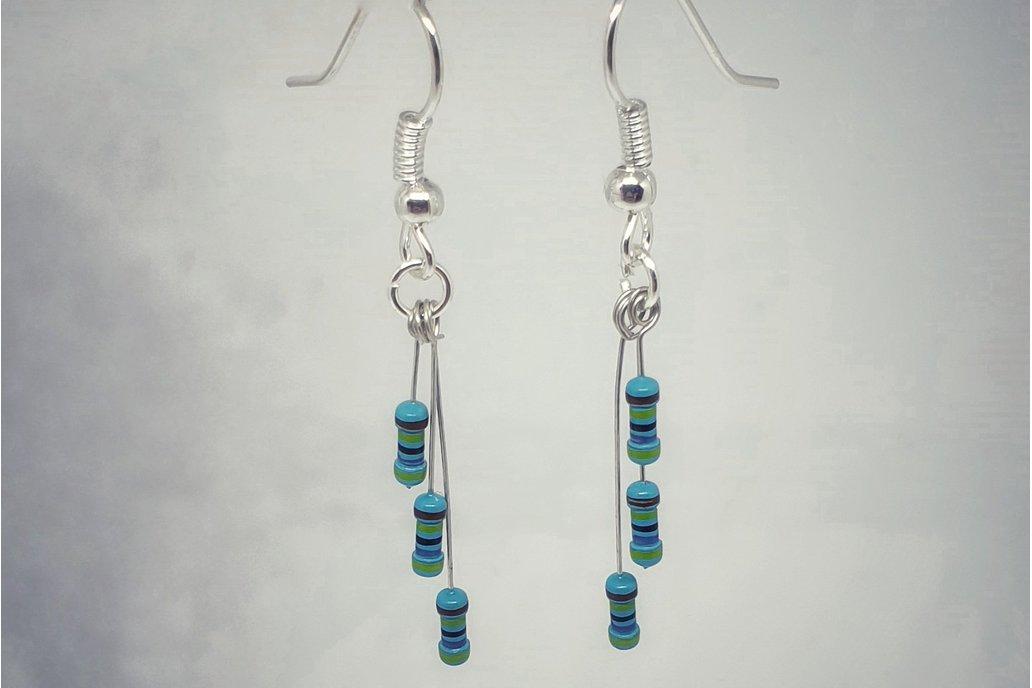 Resistor drop earrings 1