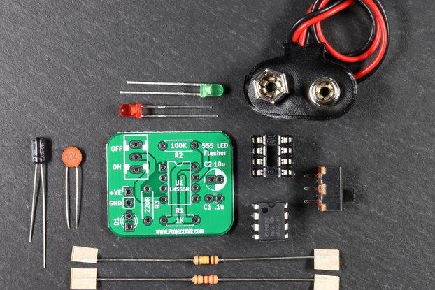 Simple 555 Flasher Kit