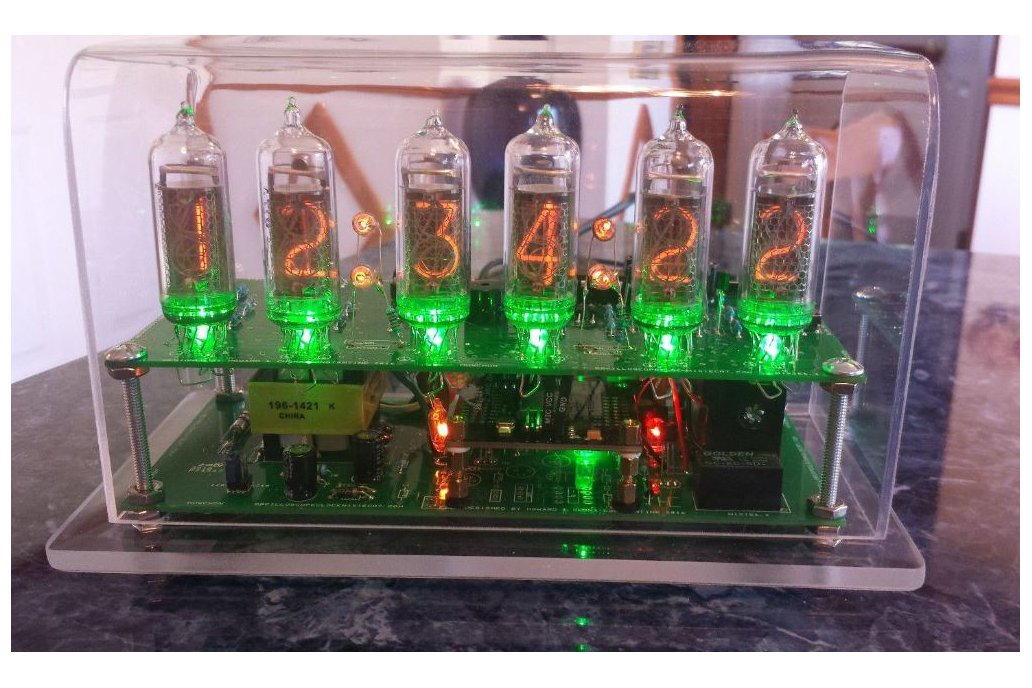 Six Digit Nixie Clock with IN-14 nixie tubes 5