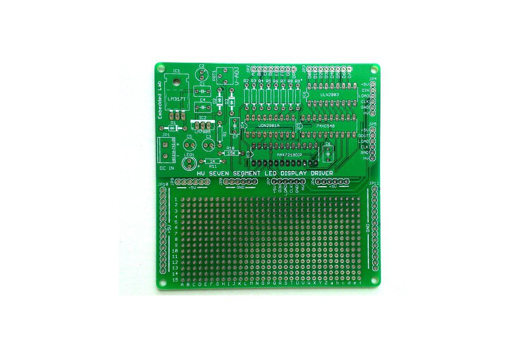 Serial driver for large seven segment LED displays 1
