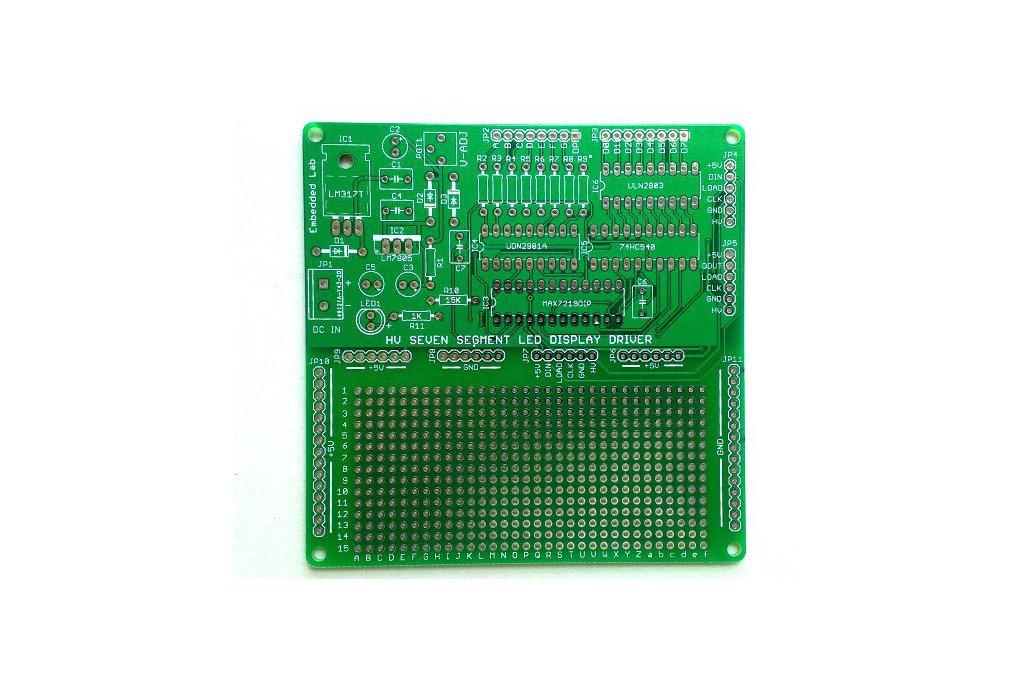 Serial driver for large seven segment LED displays 1