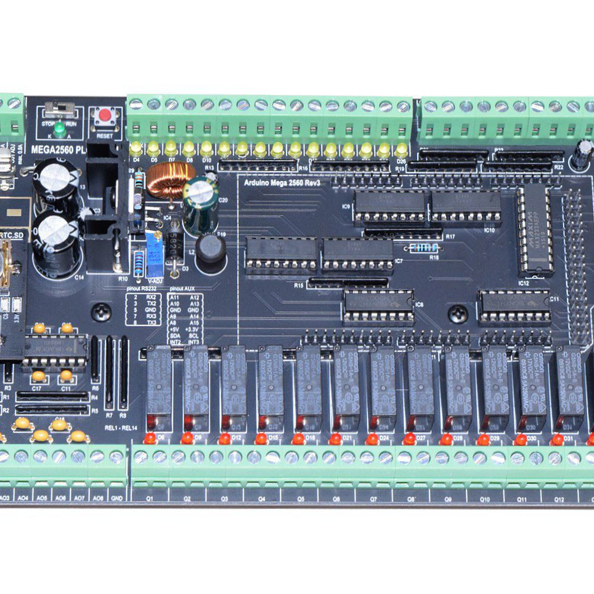 Full-Featured DIY PLC based on Arduino MEGA2560 from