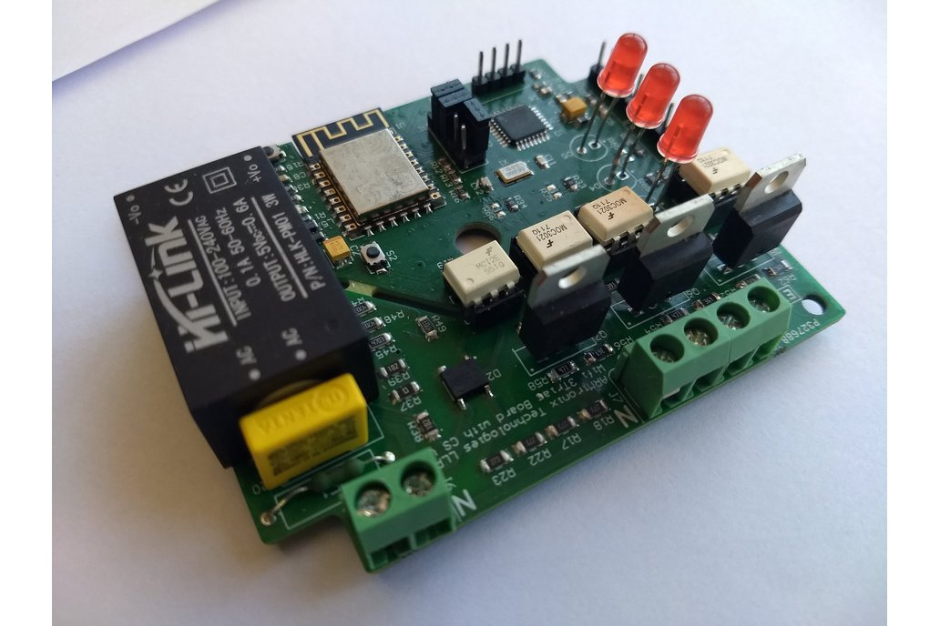 Wifi AC Dimmer Three Triac Board