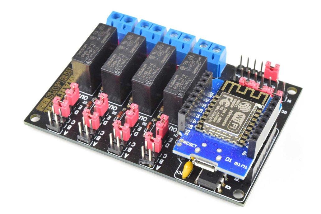 Wifi Relay Module 4-Channels DIY Soldering Kit 1