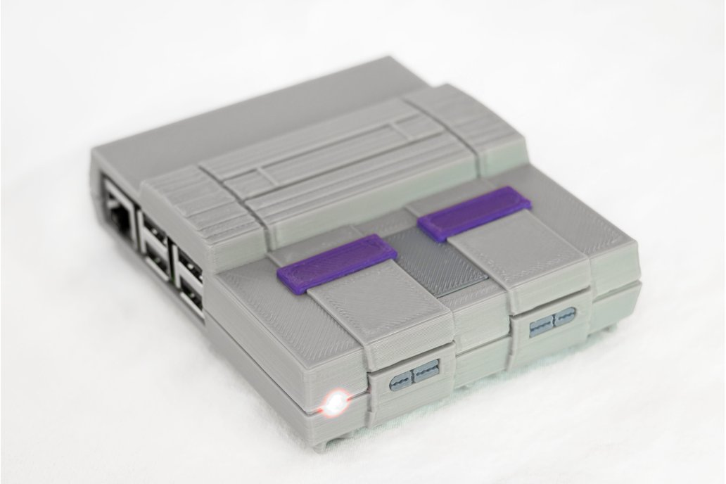 3D Printed SNES Case for Raspberry Pi w/ Fan & LED 1
