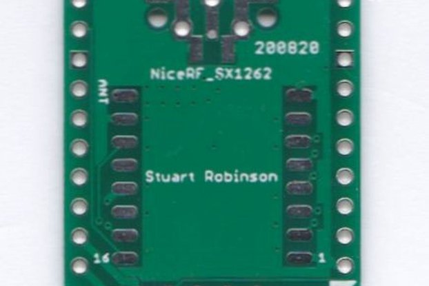 Breadboard Friendly NiceRF SX1262 Board