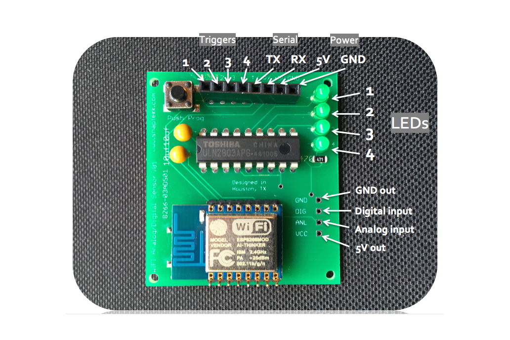 WiFi Analog/Digital Control Module MQTT ESP8266  1