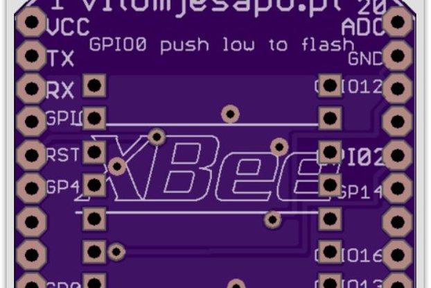 XBEE ESP8266 adapter PCB - arduino  xbee boards