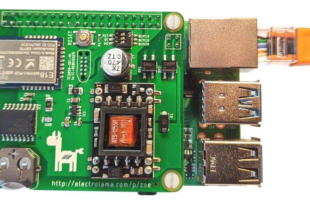 zoe PoE -Zigbee Radio, RTC & PoE for Raspberry Pi