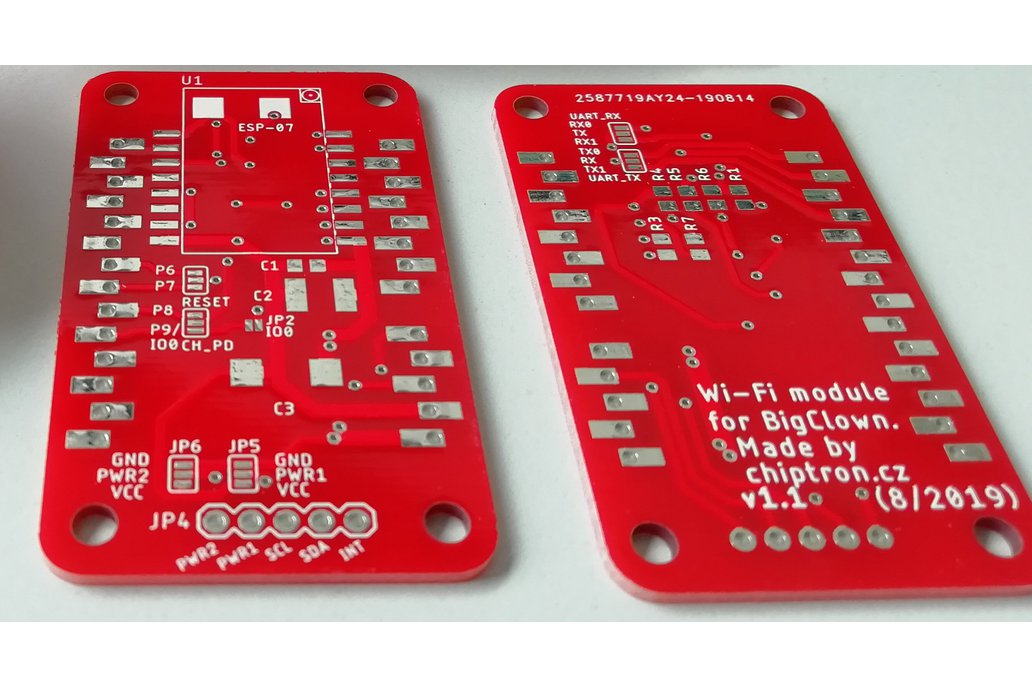 Wi-Fi module with ESP8266 for BigClown (Bare PCB) 1