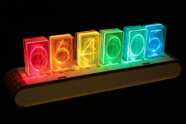 NIXT CLOCK - RGB Full Color Acrylic Nixie Clock