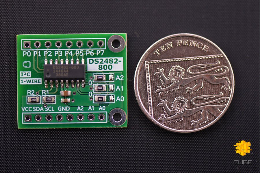 DS2482-800+ I2C to 8-Channel 1-Wire Breakout Board