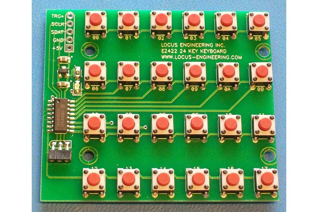 E2422 24 Key Keyboard with Clocked Data Output 1