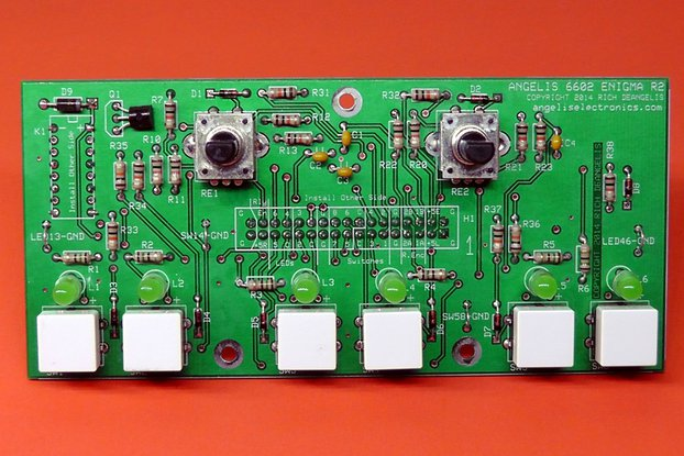 "6602 ""Enigma"" Control Panel  with Green LEDs"