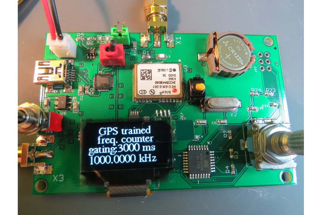 Super high-precision GPS trained frequency counter 1