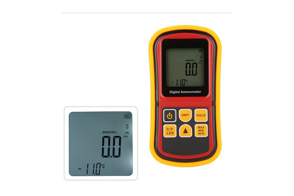 LCD Digital Anemometer Wind Speed Tester  3