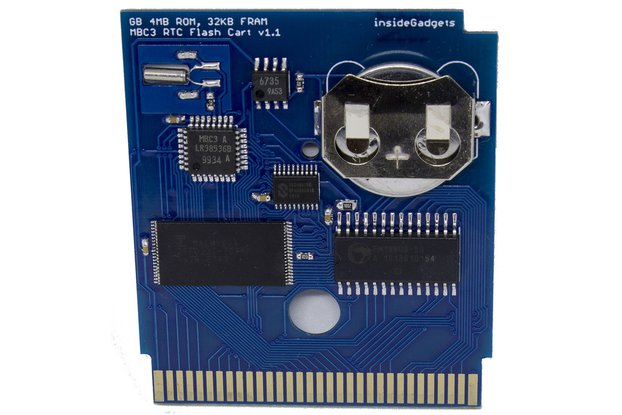 Gameboy 4MB 32KB FRAM MBC3 RTC Flash Cart